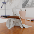 1.png Download STL file Spartan Soldier Pen Holder • Model to 3D print, Alessandro_Palma