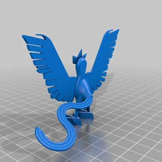 dc36e699ec73bb6a8bae96b8d5bea7ec.png Download free STL file Articuno • 3D printing object, Lockheart
