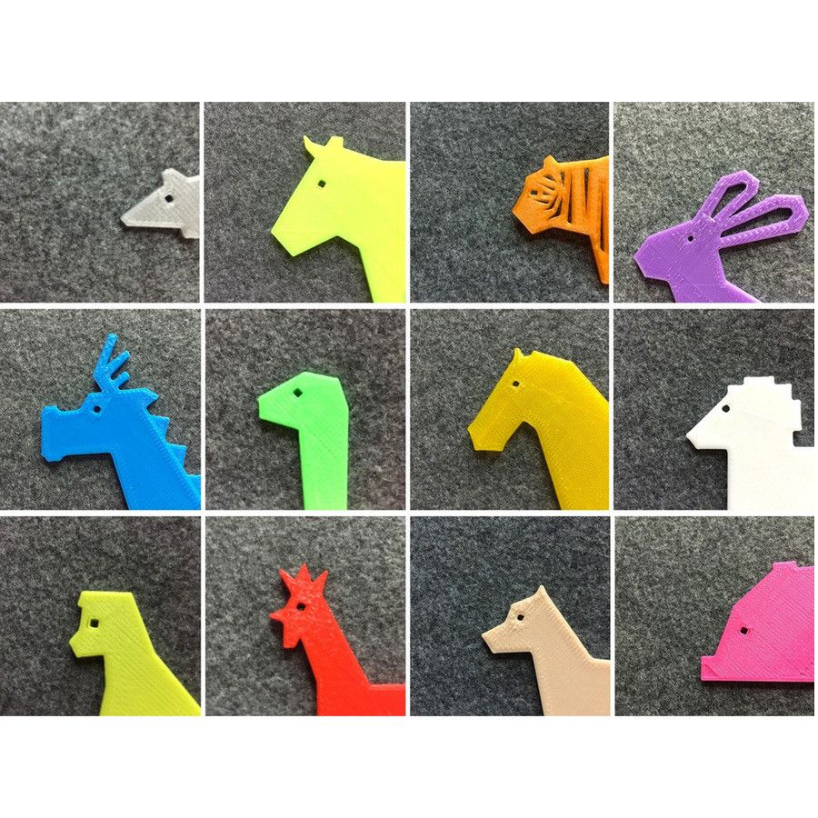 eqrfdse.jpg Download free STL file Simple Animals 13 - Chinese zodiac • 3D printing object, Eunny