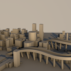 city11.png Download 3DS file City in 3D • 3D printing design, ismael2020