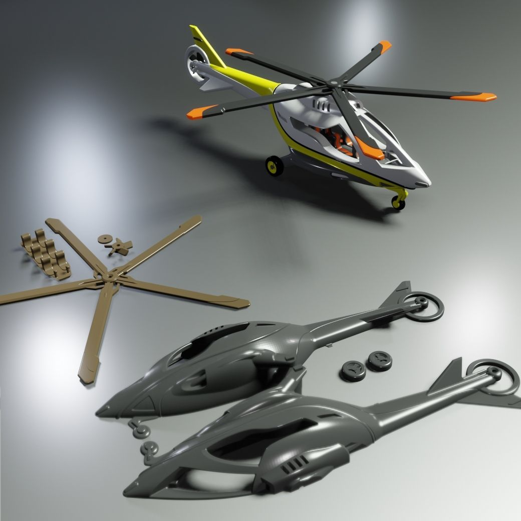 HE-01.jpg Download free STL file HE-01 Helicopter C-3D • 3D printing object, Ben_C3D