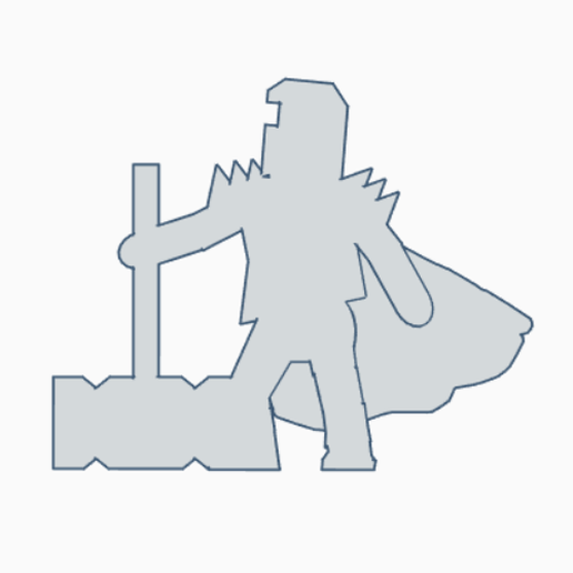 Big Hammer Knight.png Download STL file Sir Giant Hammer • 3D print object, Ellie_Valkyrie