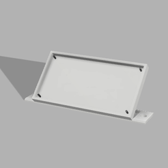 support lcd back.png Download free STL file LCD Grove Holder • 3D printer object, davallot