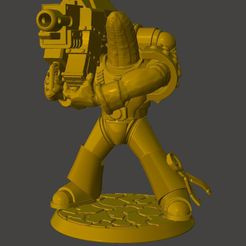 c6d87472c2d48d7618c9545041be24f8_display_large.JPG Download free STL file Heavy Weapon Banana Space Knight in Power Armour • 3D printable model, BigMrTong