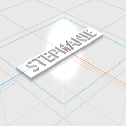 STEPHANIE.png Download STL file STEPHANIE letters • 3D printer object, 3D_Names