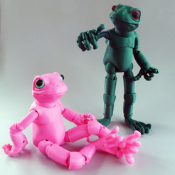 1.png Download free STL file Froggy: the 3D printed ball-jointed frog doll • 3D printing template, loubie