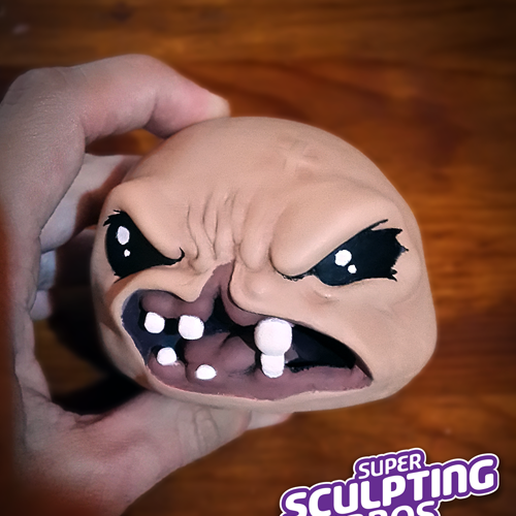 """monstro-print.png Download free STL file monstro from """"the binding of isaac"""" game • 3D printable object, prozer"""
