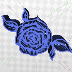 Screenshot-(634).png Download STL file Rose Flower with Leaves • 3D print model, AKXY