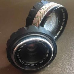 Canon SD 28-50mm adapter.jpg Download STL file Canon Demi-C, SD lens to LM adapter  • 3D print model, vintage-lens