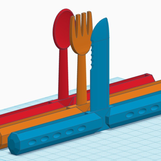 Capture d'écran 2017-03-24 à 12.49.03.png Download free STL file Print-in-place Butterfly Cutlery Set • 3D printer object, Zippityboomba