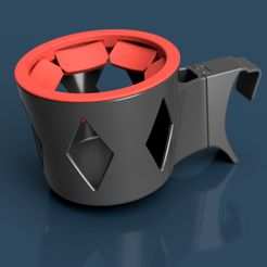 ps2-cup-holder-tapered-render.jpg Download STL file Polestar 2 cup holder • Template to 3D print, mroek
