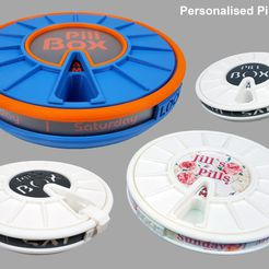 Render2.jpg Download free STL file Pill Box with AM PM Apertures V3 - It's Personal! • 3D printing design, boothyboothy