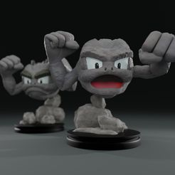 color-6.jpg Download free file Geodude - 2 versions for FDM or Resin • 3D printing object, Mypokeprints