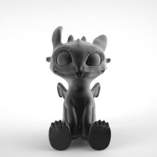 Toothless Dragon 3D printing 6.jpg Download STL file Toothless • 3D printable template, derailed