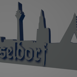 descarga - 2021-01-05T112850.952.png Download STL file Düsseldorf city keychain (silhouette) • 3D printable template, MartinAonL