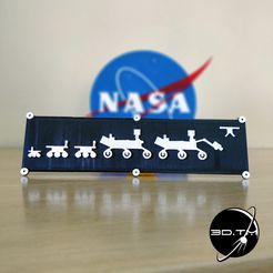 00003.jpg Download free STL file NASA Rover Family Plate • 3D print design, tmatosc