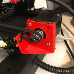 support_stepper_Y_1.JPG Download free STL file Y-axis motor support with dumper • Template to 3D print, gouls29