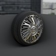 0004.png Download STL file WHEEL FOR CUSTOM TRUCK 21f (FRONT and doubled BACK) • 3D printable object, Pixel3D