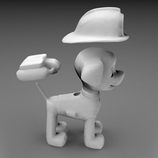 untitled.94.jpg Télécharger fichier STL PAW PATROL - Marshall • Plan pour impression 3D, MyMiniCraft