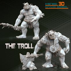 2-TROLL-WARHAMMER-3D-STL.jpg Download STL file THE TROLL STL • Design to 3D print, RECURSOSZBRUSH