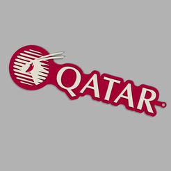 5.jpg Download free STL file Qatar airways key ring • 3D print template, cifrerenzo