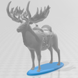 GiantElkwBase.png Download STL file Giant Elk / Irish Elk Miniature (with and without base) • Template to 3D print, ethansweitzer