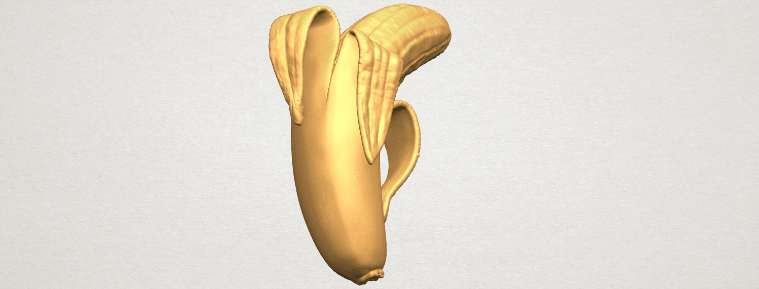 TDA0577 Banana 02 A04.png Download free STL file Plátano 02 • 3D printer object, GeorgesNikkei