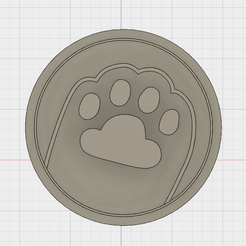 pusheen paw 1.png Télécharger fichier STL Pusheen Paw Cookie Cutter Paw Cookie Cutter • Plan imprimable en 3D, FewDey