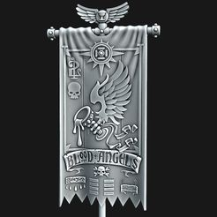 BA-2nd-Company-Banner.jpg Download STL file BA 2nd Company Banner • 3D printing template, Red-warden-miniatures