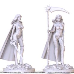 untitled.357.jpg Download STL file lady death sword and scythe  • Template to 3D print, jexes20092