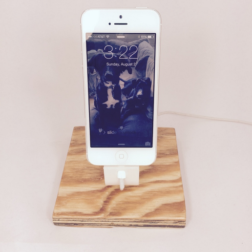 Capture_d__cran_2015-08-05___12.18.32.png Download free STL file The Ess, Apple Lightning Cord Charging Dock for iPhone 5/5S • 3D printing template, ShookIdeas