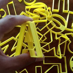 IMG_20200117_182328291.jpg Download free STL file Alphabet A-Z cookie cutter 60mm high • Template to 3D print, ledblue