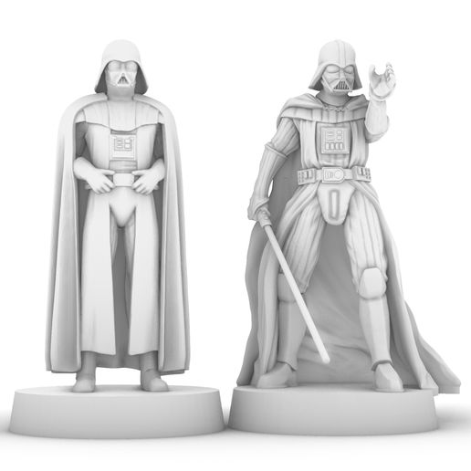 vaders.jpg Download free STL file DARTH VADER STANDING & USING THE FORCE, LEGION SCALE, STAR WARS, RPG, UNPAINTED, ROLE PLAYING, D&D • 3D print object, LANARDARNA