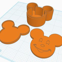 """MM_Box_Ver2.JPG Download free STL file Mickey Mouse """"esque"""" Box - Updated Ver2 • 3D print template, cdsmakestuff"""