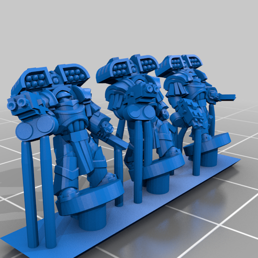 HeavySeigeArmour_Missile_Chain.png Download free STL file Galactic Crusaders - Heavy Siege Armour Heavy Weapons- 6-8mm • 3D printable template, MoonJammy
