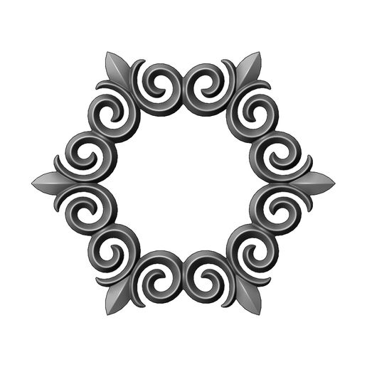 onlay20-000.JPG Download 3MF file Hexagonal floral decoration element relief 3D print model • 3D printing object, RachidSW