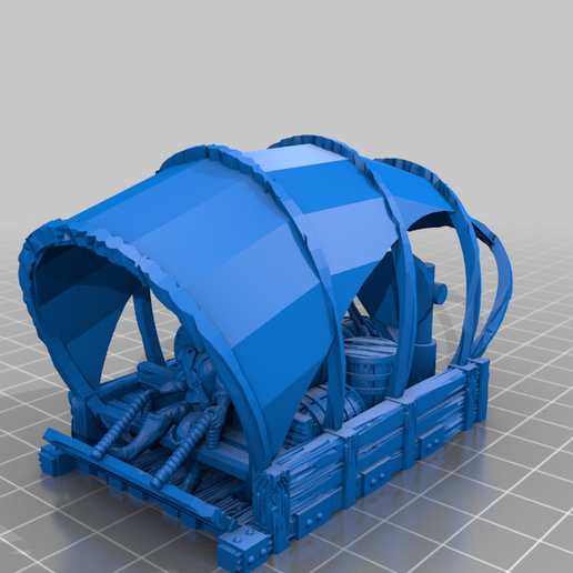 ale-trader-top-section.png Download free STL file Ale Trader's Rig for 28mm miniatures gaming • 3D printing design, Brease