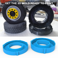 01.png Download OBJ file TRUCK WHEEL Mold • Template to 3D print, LaythJawad