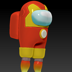 among_ironman_fly_v5.png Download free OBJ file Among Us • 3D print template, Chamunizu