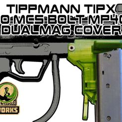 TIPX_to_MCS_BOLT_MP40_DC.jpg Download free STL file Tippmann TIPX to MCS BOLT or Blizzard Adapter MP40 DC edition • 3D printing design, UntangleART
