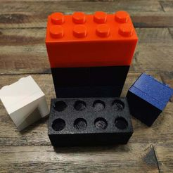 IMG_20210119_221435.jpg Download free STL file Simple LEGO Brick Style Stackable Boxes • 3D printing template, RT3DWorkshop