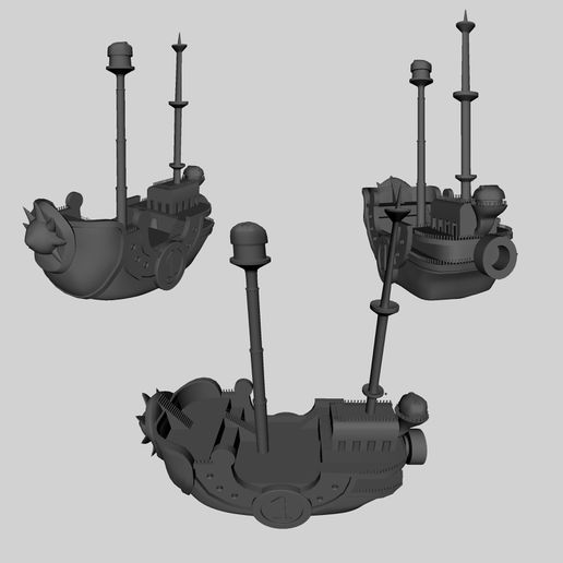 bateau4.jpg Download OBJ file Boat Thousand sunny One piece • 3D printing object, edgehug