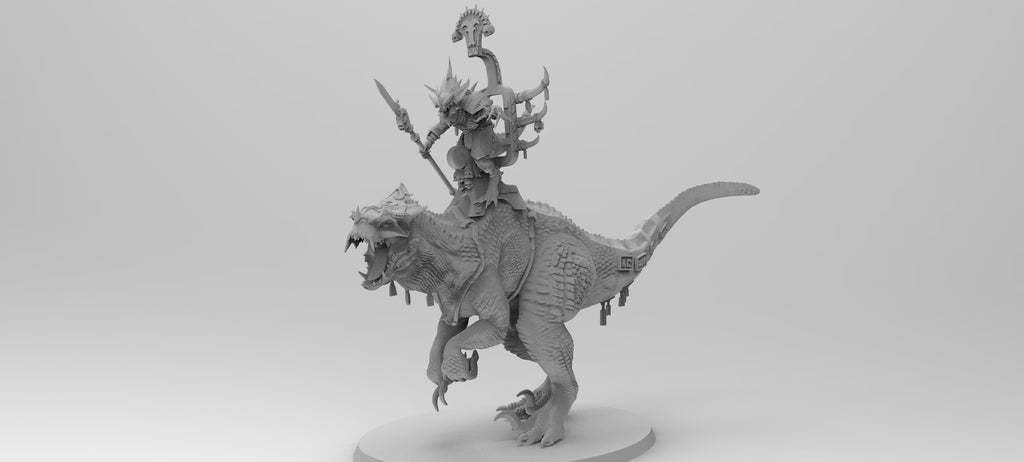 untitled.561.jpg Download free 3MF file One-Armed Dino-Jesus & His Pet Tyrannosaur • 3D printing model, EmanG
