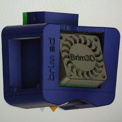 brim3d_bluer.jpg Download free STL file X-Carriage Mount for Bluer With Creality Hotend 24V • 3D printing design, brim3d
