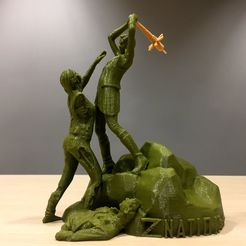 89ca59006f108205904eb0c12f051b04_display_large.JPG Download free STL file Z Nation - Addy vs Zombie Statue • 3D printing design, SYFY