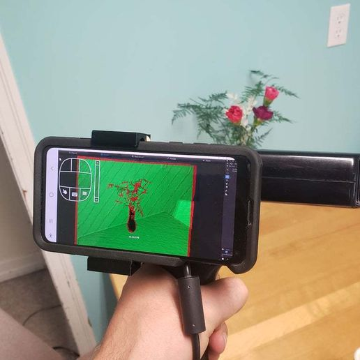 20200710_151422.jpg Download free STL file Kinect Handle (No screws) with added phone and tripod mount • 3D printable model, MakeItWork