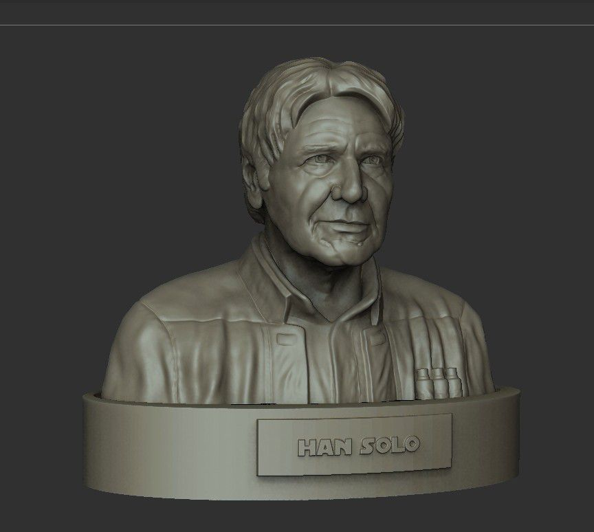 04.jpg Download STL file HAN SOLO • 3D printing template, thierry3D