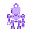 MICROBOT by DDD KEYCHAIN.stl Download STL file MICROBOT - Print in Place / No supports / No asemble • 3D printable object, DanDerDrucker
