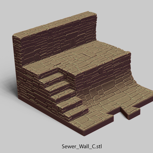 Sewer_Wall_C.png Download file PuzzleLock Sewers & Undercity • Design to 3D print, Zandoria