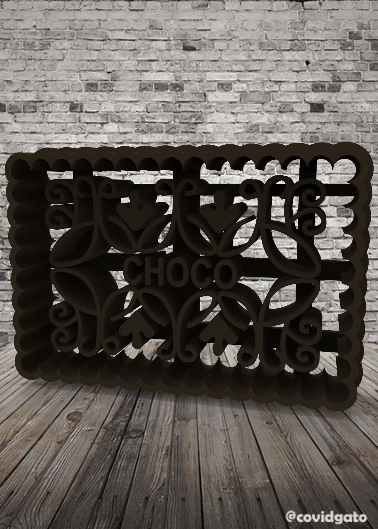 untitled.127.jpg Download free STL file Chocolinas - Cookie Cutter - CHOCO • 3D printable model, covidgato